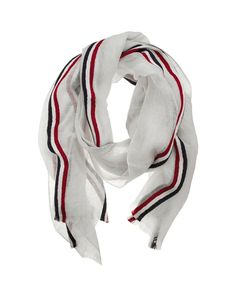 Red, white and blue.  Thom Browne Scarf
