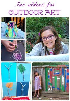 Wonderful art activities kids can do outside!
