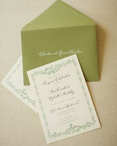 The white print on colored envelopes is very striking...this invite will not be missed!