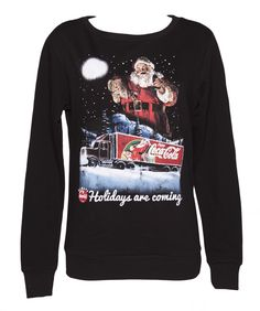 Ladies Coca-Cola Holidays Are Coming julen Jumper - I swear I would wear this