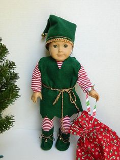 18 inch doll elf outfit - Google Search