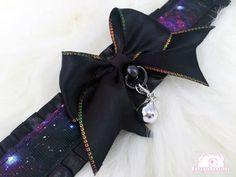 Galaxy Themed Kitten Collar, Kitten Play Collar, Pet Play Collar, Choker, Adult Kitten Play Collar, BDSM Collar