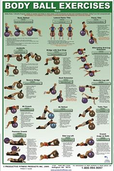 Body Ball Exercises Core Fitness Chart