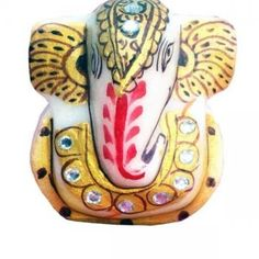 This figurine of Lord Ganesha will grab attention right away! It's made of  marble and comes in catchy multicolor! The impressive look of this figurine can be a splendid Diwali gift! Do-up your puja room with this Ganesha statue!