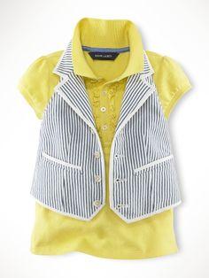 Striped Knit Vest. Ralph Lauren. $45