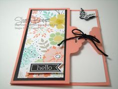 """This instructional video is part of My """"Wow, That's Cool"""" Video Series. This card is made using the Stampin' Up! Tag Topper Punch and a few new stamp sets fr..."""