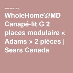 WholeHome®/MD Canapé-lit G 2 places modulaire « Adams Canada Shopping, Online Furniture, Sofa Bed, Mattress, Condo, Collection, Places, Family Room, Sleeper Couch