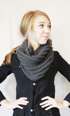 Beautiful knitted stocking & reverse stocking stitch cowl