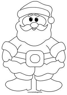 babbo-natale-sorridente-2 Christmas Wood Crafts, Christmas Activities, Felt Christmas, Christmas Colors, Holiday Crafts, Christmas Decorations, Christmas Ornaments, Easy Santa Drawing, Santa Claus Drawing