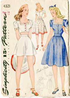 Hey, I found this really awesome Etsy listing at https://www.etsy.com/ca/listing/237033179/1940s-40s-vintage-sewing-pattern-crop