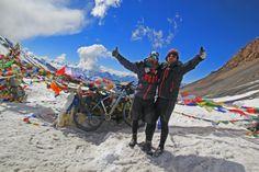 Cycling Annapurna Circuit. Nepal 2014 Zdobycie przełęczy Thorung La 5419 mnpm