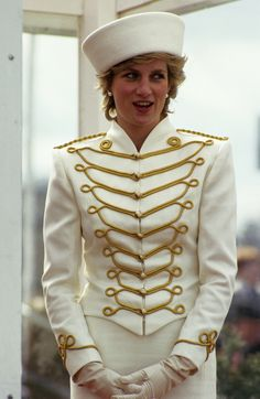 Princess Diana in Military Suit,1987