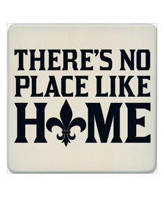 'No Place Like Home' Fleur-de-Lis Coaster - Set of Four #zulily #zulilyfinds