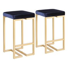 LumiSource Matisse Counter Stool With Gold Frame and Cream, Set of 2 - Midcentury - Bar Stools And Counter Stools - by LumiSource 24 Bar Stools, Bar Chairs, Counter Stools, Room Chairs, Desk Chairs, Office Chairs, Dining Chairs, Bar Counter, Island Stools