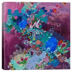 Add a pop of color to your entryway or home library with this eye-catching canvas print, showcasing a multicolor collage-inspired motif.   ...