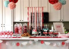 our daily obsessions: Party Details: ribbon backdrop tutorial ~ follow pic to her blog.