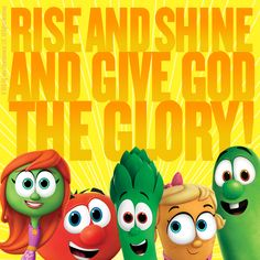 We can teach our little ones how to pray by starting the day off in prayer. Start a routine each morning at breakfast or as your little ones are getting up! Thank God for each day and His many blessings! #VeggieTales