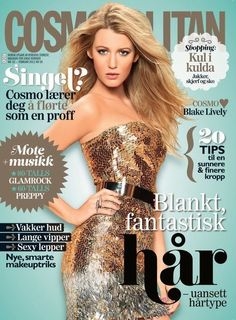 Blake Lively 'Cosmopolitan' magazine cover Feb 2012 Norway