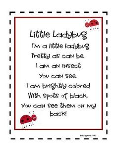 Ladybugs ~ Lapbook | Circles, Spring and Flannel boards