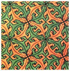 Lizard (tessellation 35) M. C. Escher