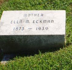 Genealogical Gems: Tombstone Tuesday: Ella Doner Eckman http://genealogybyjeanne.blogspot.com/2015/03/tombstone-tuesday-ella-doner-eckman.html?spref=tw #genealogy #genchat @geneabloggers