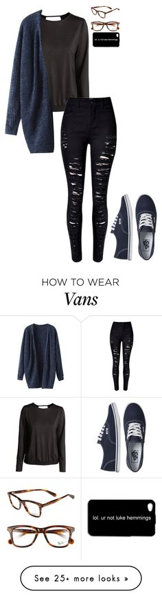 """""""Untitled #733"""" by breemanor on Polyvore featuring H&M, WithChic, Ray-Ban and Vans"""