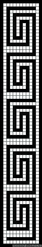 Greek Key Border or Bracelet Free Cross Stitch Chart