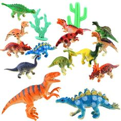 Special Offer 12pcs Mini Dinosaur Toy Plastic Jurassic Play Dinosaur Model Action & Figures Best Gift for Boys @ZJF