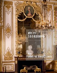 Photo: Fireplace in Queens bedroom Palace of Versailles France 18th…