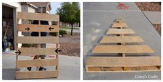 Christmas Pallet Tree- @beany now that you have some extras!