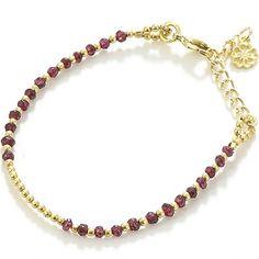 Azuni London 24ct Gold Plated Semi Precious Stone Bracelet