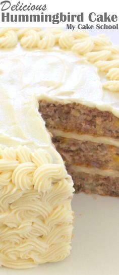 Delicious Hummingbird Cake Recipe from scratch! You will LOVE this southern favorite. My Cake School.