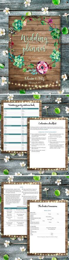 wedding planner book free printable