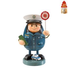Weihnachtswelt Polizist, Duftl Bunt, Table Lamp, Christmas Ornaments, Holiday Decor, Material, Nutcrackers, Home Decor, Products, Police Officer