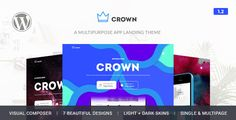 Here comes the Best Responsive Multipurpose App Landing Theme with Built in 7 Out Standing Trendy Demos with Responsive Crown have the all latest Features with the flexibility of making unlimited l...
