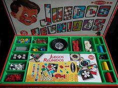 Los juegos reunidos de los Gilabert, los cinco vecinos del piso de abajo en Tortosa. Menudas partidas nos échabamos, de lo que fuera.