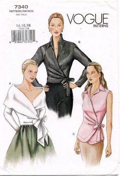 Vogue Misses' Blouse Pattern 7340 Size 14 18 Uncut | eBay
