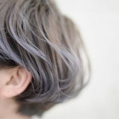 Color and long shape Bob Hair Color, Hair Color Streaks, Short Hair Cuts, Short Hair Styles, Hair Arrange, Sleek Hairstyles, Grunge Hair, Love Hair, Hair Highlights
