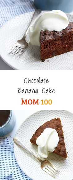Chocolate Banana Cake / The combination of chocolate and bananas kind of never fails. This cake is super moist and has just the right level of sweetness to qualify as breakfast, a snack, or dessert. Cake Recipes, Dessert Recipes, Banana Recipes, Top Recipes, Dutch Oven Recipes, Chocolate Dreams, Gluten Free Sweets, Cake Tins, Round Cakes