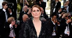 """Ms. Moore also showed up at """"La Tête Haute,"""" this time in  an Armani Privé gown and Chopard jewelry."""