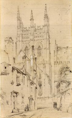 """Merton College and Magpie Lane, Oxford"" (1838), by John Ruskin"
