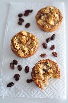 Apple oatmeal mini muffins