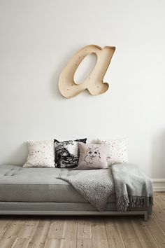 "I was torn where to pin this...For the Home or My Style. This has ""me"" written all over it. But it is technically for the house so that's where I put it :) It's just so cute. Replace the A with a J and you'll be all set"