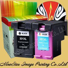 Noir + Couleur 301 301XL Cartouche D'encre pour HP 301 301XL D'ENCRE Deskjet 1000 1050 2050 3000 3050 imprimante NS14