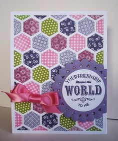 Stampin Up!, Six-Sided Sampler, Hexagon Punch