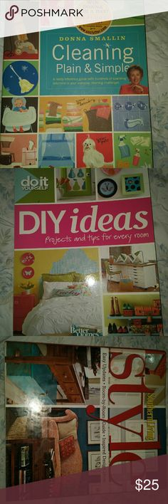 3 Housekeeping/ Decorating Books ALL ARE NEW. OF NOT BUYING ALL $10 each. WOULD MAKE A GREAT GIFT. Other