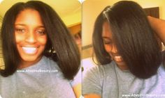 A Desired Beauty: Wash Day - Henna & Flat Iron