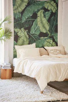 Trending banana leaf decor.