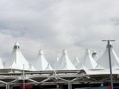 Denver international airport, or DIA as many call the futuristic airport.