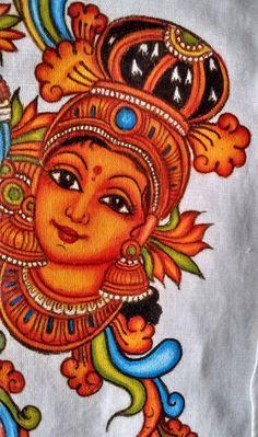 super ideas for diy decorao canvas fabrics Saree Painting Designs, Glass Painting Designs, Fabric Paint Designs, Kerala Mural Painting, Tanjore Painting, Krishna Painting, Kalamkari Painting, Peacock Painting, Fabric Painting